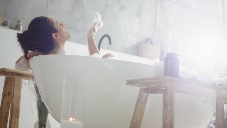 baignoire bouchée